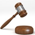 裁判官の木槌(ガベル)のイメージ