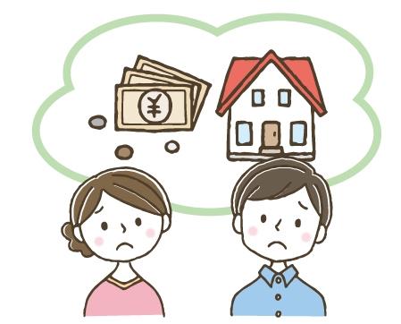 離婚の際に共有持分の処理に悩む夫婦のイメージ