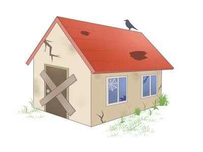 老朽化した家屋のイメージ